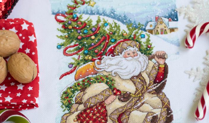 Сапожок «Путешествие Санты» (Santa`s Journey Stocking)